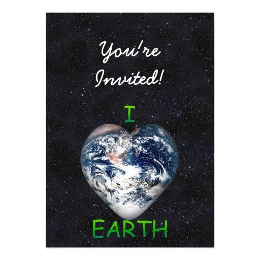 I Heart Earth (Universe Background) Invite