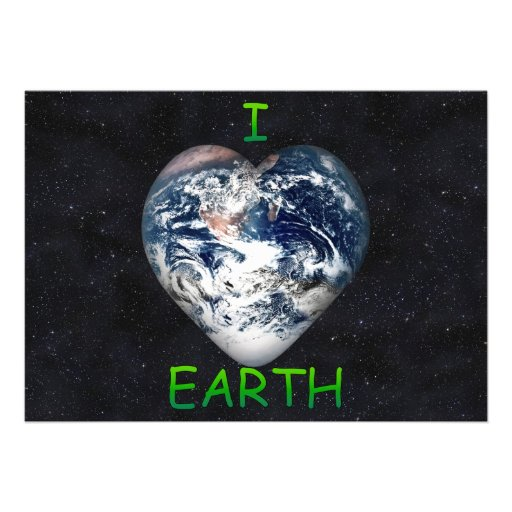 I Heart Earth (Universe Background) Custom Announcements