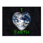 I Heart Earth (Universe Background) Postcard