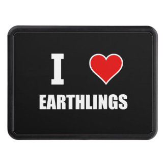 I Heart Earthlings Tow Hitch Cover