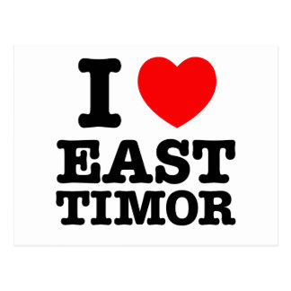 I heart East Timor Postcard