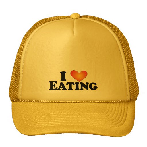 I (heart) Eating - Lite Products Trucker Hat