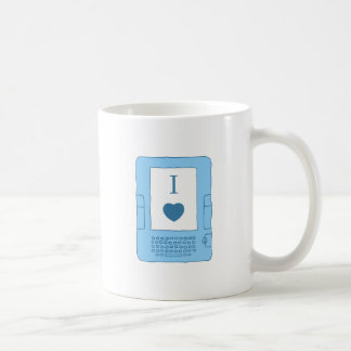 i heart ebooks (blue) coffee mug