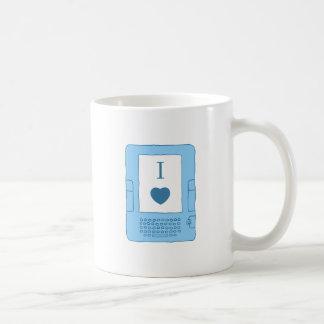 i heart ebooks (blue) coffee mug