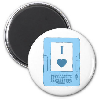 i heart ebooks (blue) magnet