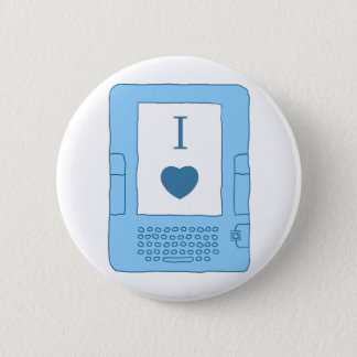 i heart ebooks (blue) pinback button