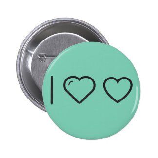 I Heart Ecommerce Hearts 2 Inch Round Button