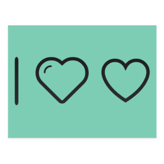 I Heart Ecommerce Hearts Postcard