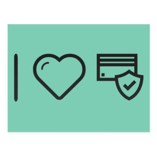 I Heart Ecommerce Shields Postcard