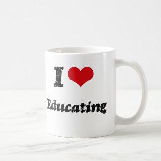 I Heart Educating Classic White Coffee Mug
