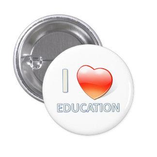I Heart Education Pinback Button
