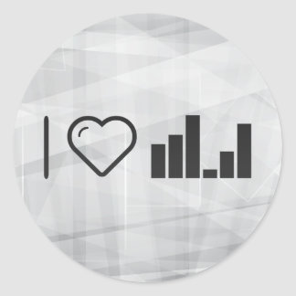 I Heart Educational Bars Classic Round Sticker