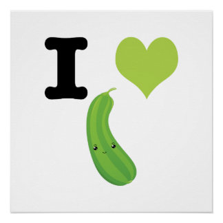 I Heart Eggplant Poster