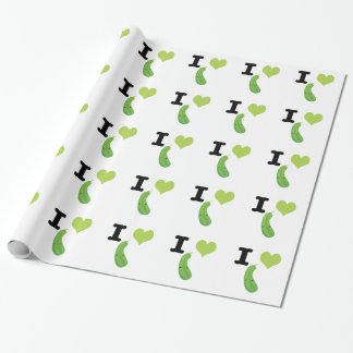 I Heart Eggplant Wrapping Paper