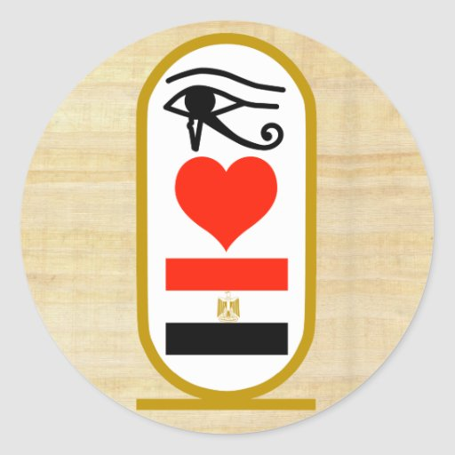 I Heart Egypt Round Stickers