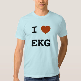 I heart EKG T Shirt