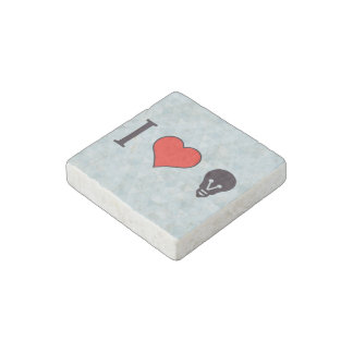 I Heart Electric Lights Stone Magnet