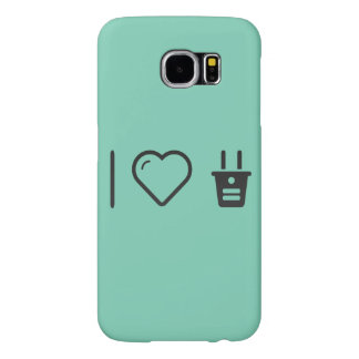 I Heart Electrical Plugs Samsung Galaxy S6 Cases