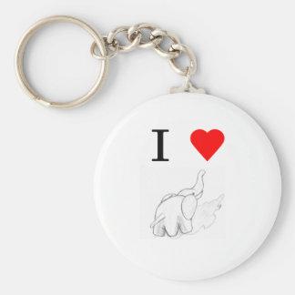 I heart elephants key chain