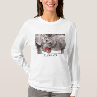 I(heart)elephantsBW T-Shirt