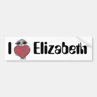 I Heart Elizabeth Alien Bumper Sticker