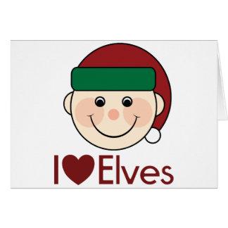 I Heart Elves Christmas Greeting Cards