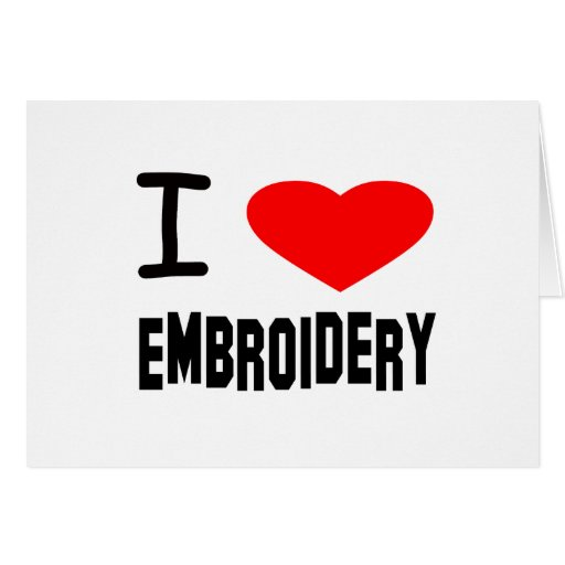I Heart Embroidery Greeting Card