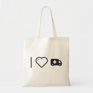 I Heart Emergency Vehicles Budget Tote Bag