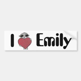 I Heart Emily Alien Car Bumper Sticker