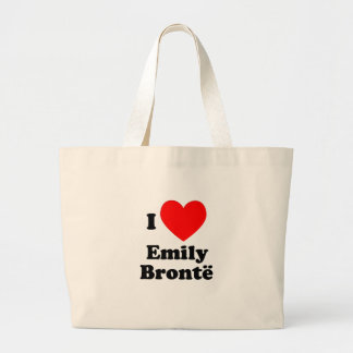 I Heart Emily Bronte Canvas Bags