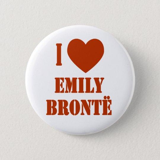 I Heart Emily Bronte Button