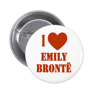 I Heart Emily Bronte Pins