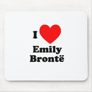 I Heart Emily Bronte Mouse Pad