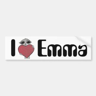 I Heart Emma Alien Car Bumper Sticker
