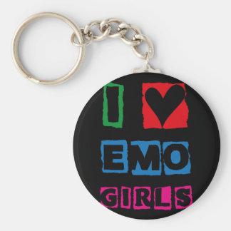 I Heart Emo Girls - Emoti Basic Round Button Keychain