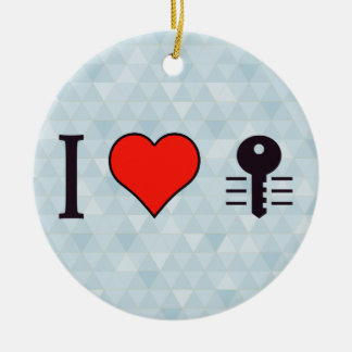 I Heart Encrypting My Private Data Double-Sided Ceramic Round Christmas Ornament