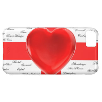 I Heart England Flag of St George Patriotic Cover For iPhone 5C