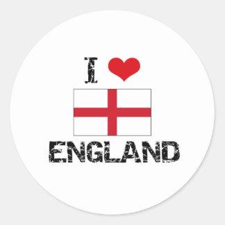 I HEART ENGLAND ROUND STICKER