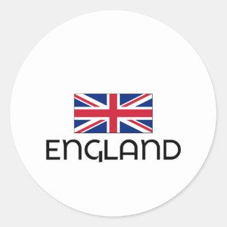 I HEART ENGLAND ROUND STICKERS