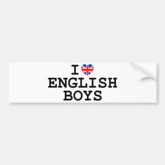 I Heart English Boys Bumper Sticker