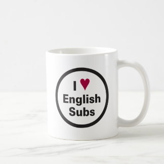 I Heart English Subs Circle Mug