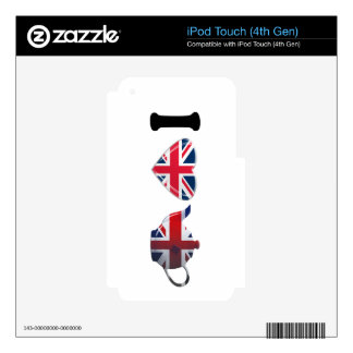I Heart English Tea, Fun Patriotic Art iPod Touch 4G Decal