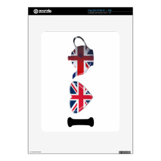 I Heart English Tea, Fun Patriotic Art Skins For iPad