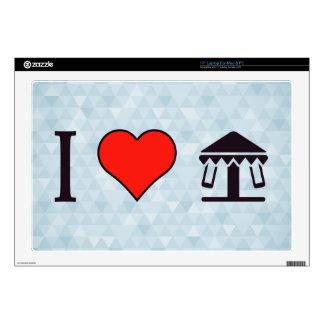 I Heart Entertainment Parks Skins For Laptops