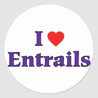 I Heart Entrails Classic Round Sticker