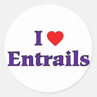I Heart Entrails Classic Round Sticker