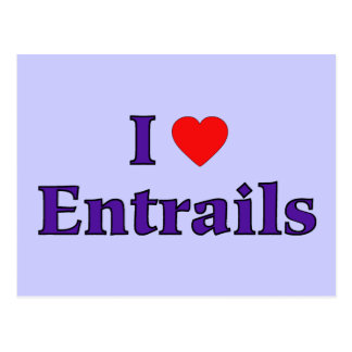 I Heart Entrails Postcard