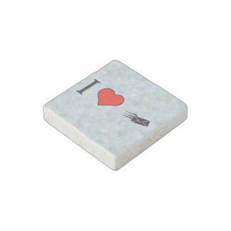 I Heart Envelopes Stone Magnet