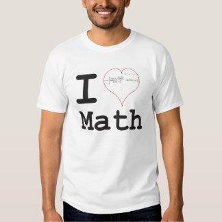 I heart equation math tshirt