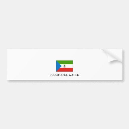 I HEART EQUATORIAL GUINEA BUMPER STICKER
